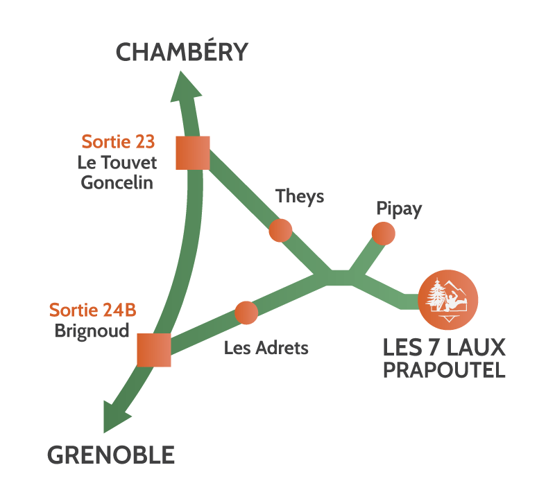 Plan d'acces accrobranche Grenoble